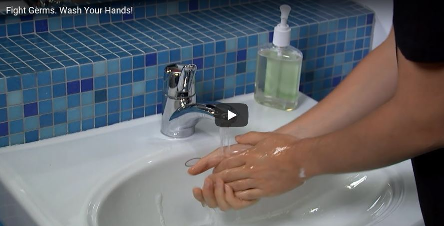 FIGHT GERMS_WASH HANDS