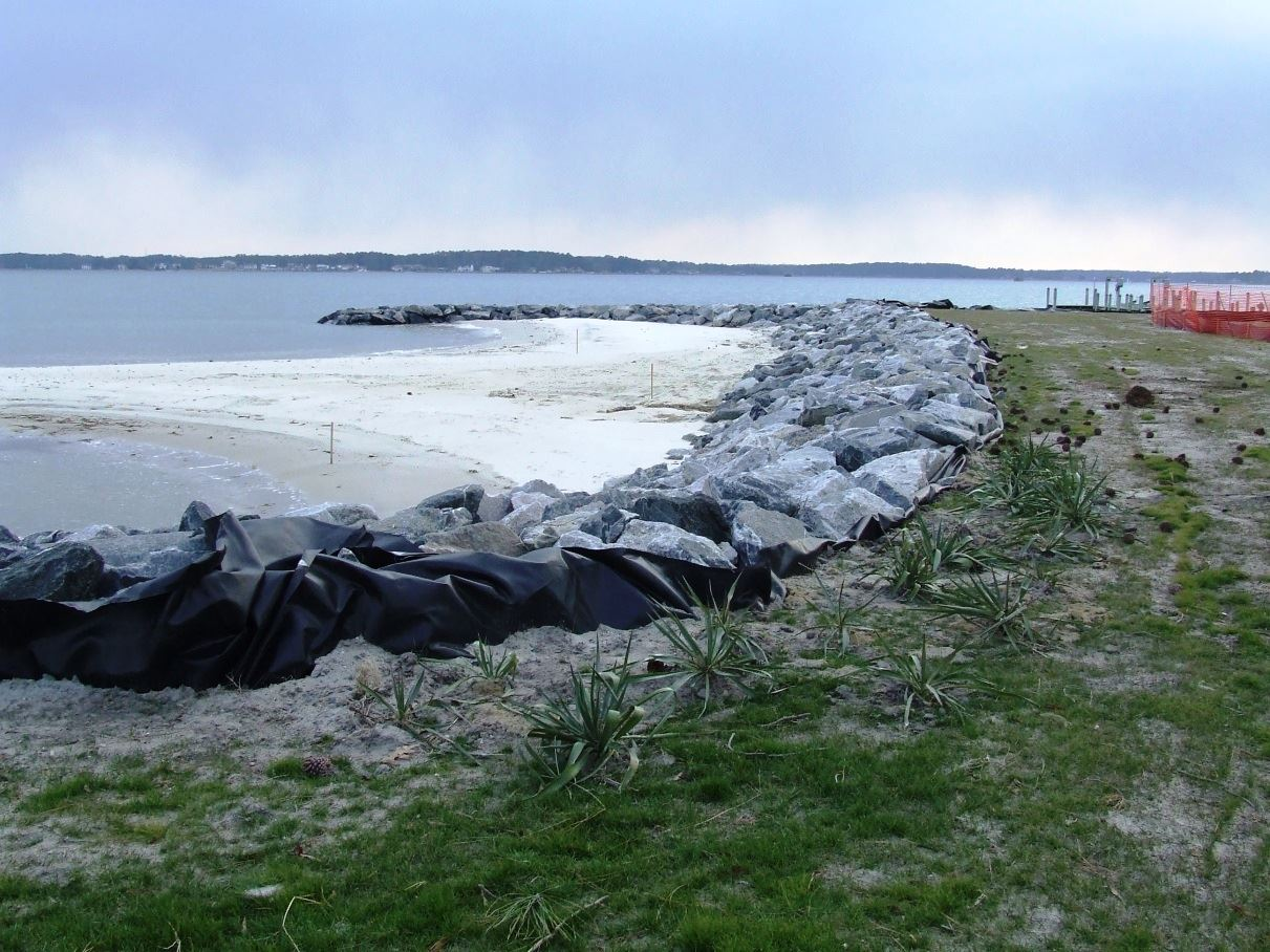 After Riprap Revetment Along Coast