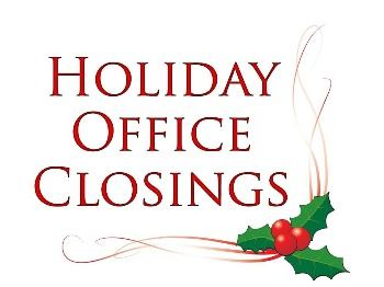 Holiday Office Closings