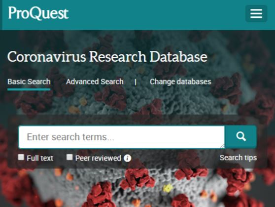 Access ProQuest&#39s new Coronavirus Research Database
