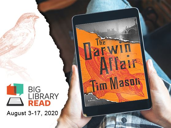"Global book club reads ""The Darwin Affair"" August 3-17 through OverDrive"