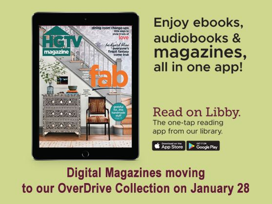 Digital magazines moving to OverDrive on January 28