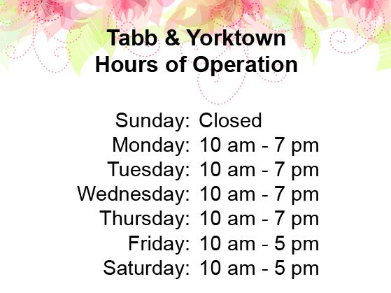 York County Public Library System Hours of Operation