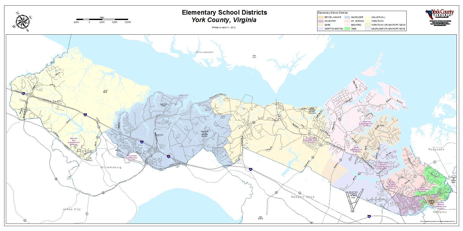 Gloucester Virginia Map.School District Maps York County Va