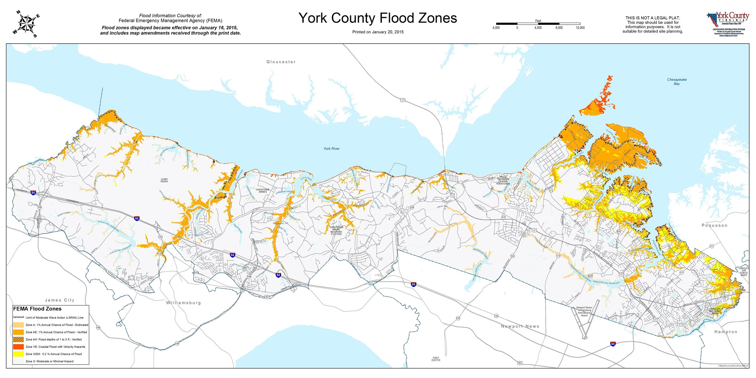 Ashton Virginia Map.Flood Zone Hurricane Storm Surge Maps York County Va