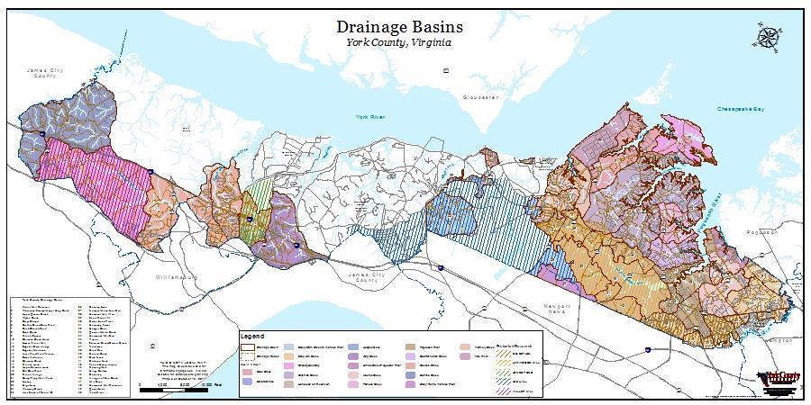 Drainage Basins & Soil Types Maps | York County, VA on virginia beach map of virginia, york county map pa, united states map of virginia, jamestown map of virginia, york county va extension office, james river map of virginia, york county yorktown virginia,