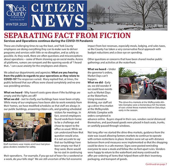 Winter 2020 Citizen News cover Opens in new window